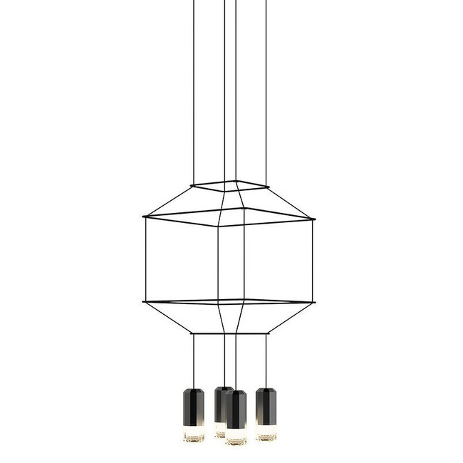 Wireflow Square Pendant  by Vibia