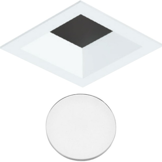 3 Inch Square Flanged Trim Bevel Lensed Shower Trim  by Element by Tech Lighting