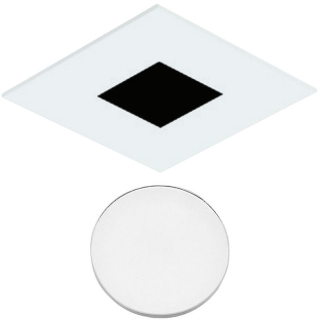 3 Inch Square Flanged Flat Lensed Shower Trim  by Element by Tech Lighting