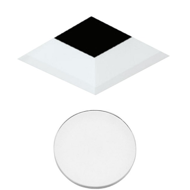 3 Inch Square Flangeless Bevel Lensed Shower Trim  by Element by Tech Lighting