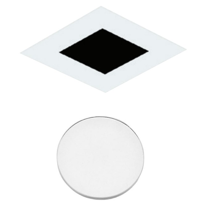 3 Inch Square Flangeless Flat Lensed Shower Trim  by Element by Tech Lighting