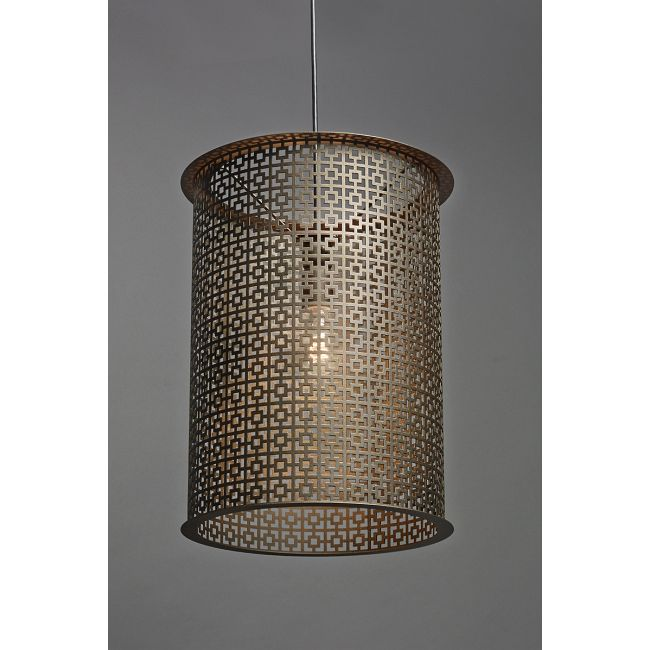 Clarus Round Exposed Geometric Cutout Pendant  by Ultralights