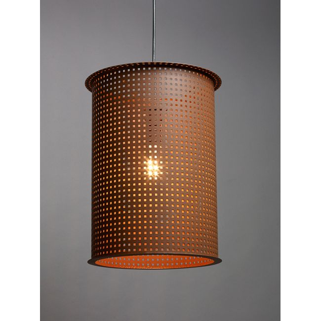 Clarus Round Exposed Square Cutout Pendant  by Ultralights