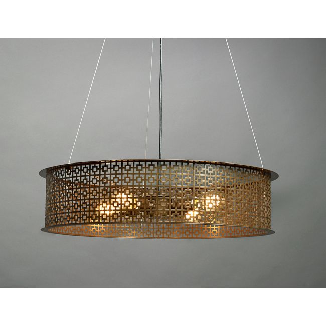 Clarus Exposed Geometric Cutout Drum Pendant  by Ultralights