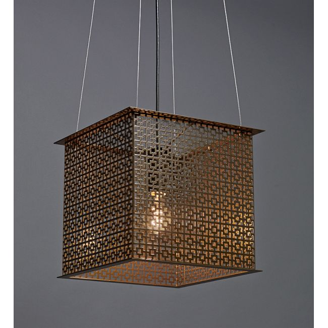 Clarus Square Exposed Geometric Cutout Pendant  by Ultralights