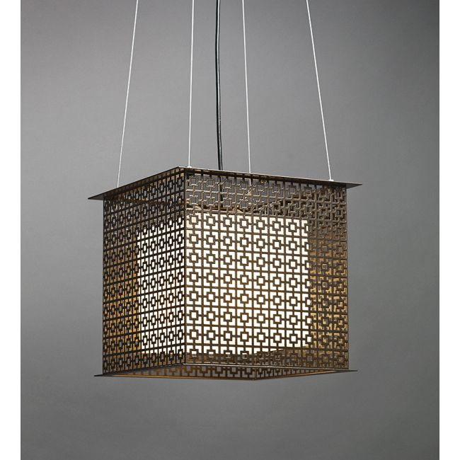 Clarus Square Shaded Geometric Cutout Pendant  by Ultralights