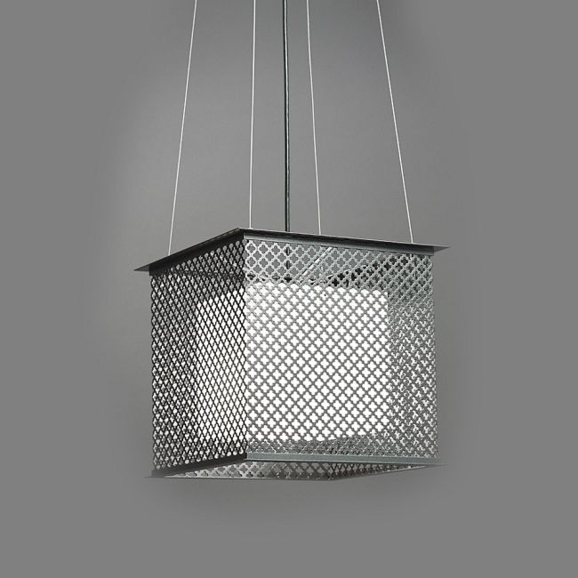 Clarus Square Shaded Quatrefoil Cutout Pendant  by Ultralights