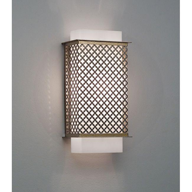 Clarus Squared Quatrefoil Cutout Wall Light  by Ultralights