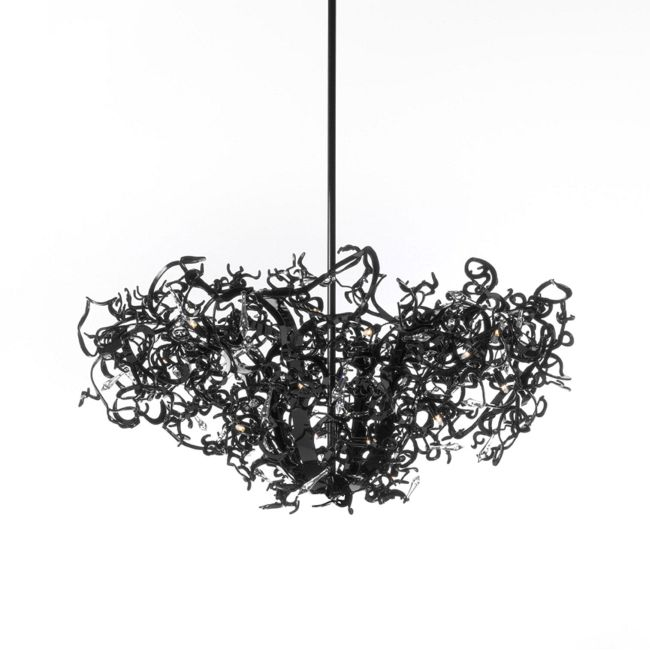 Icy Lady Chandelier Round Upside Down by Brand Van Egmond | ILCUSD80BLU