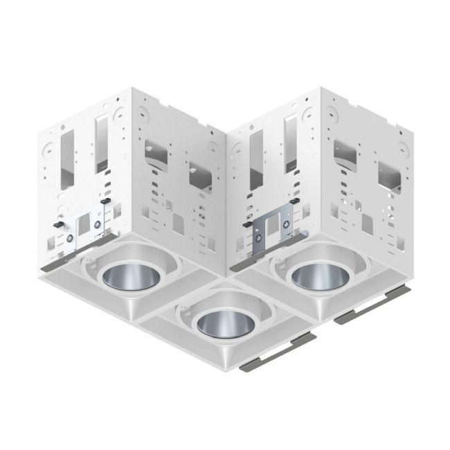 Modul-Aim L Crisp White Non-IC Remodel Housing  by Contrast Lighting