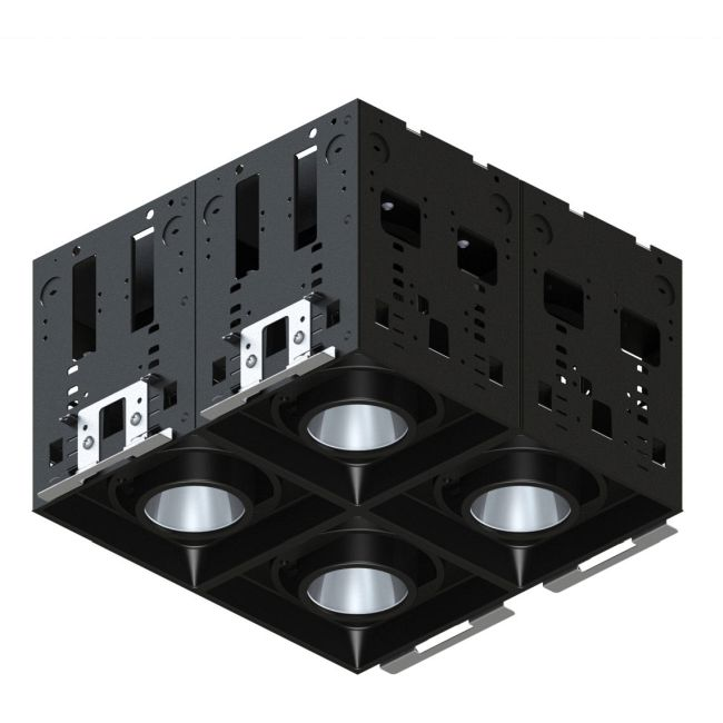 Modul-Aim Square Warm Dim Non-IC Remodel Housing  by Contrast Lighting