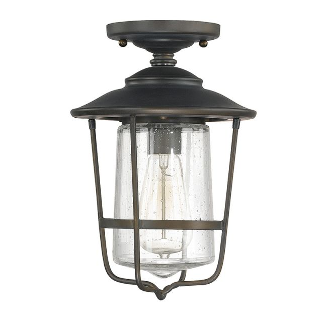 Creekside Seeded Glass Outdoor Ceiling Mount  by Capital Lighting