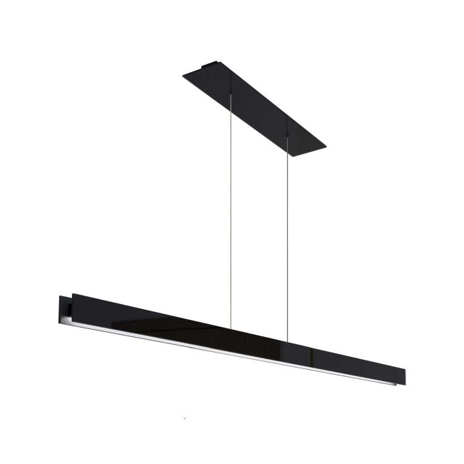 Glide Glass Up/Down Center Feed Linear Suspension  by PureEdge Lighting