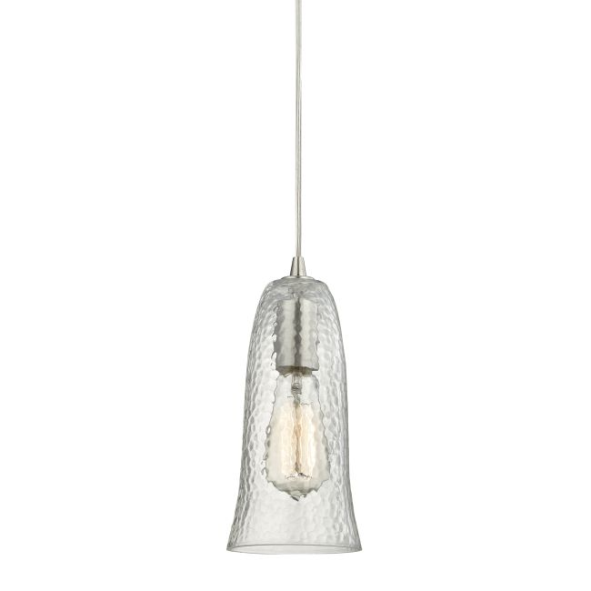 Hammered 10431 Glass Pendant  by Elk Lighting