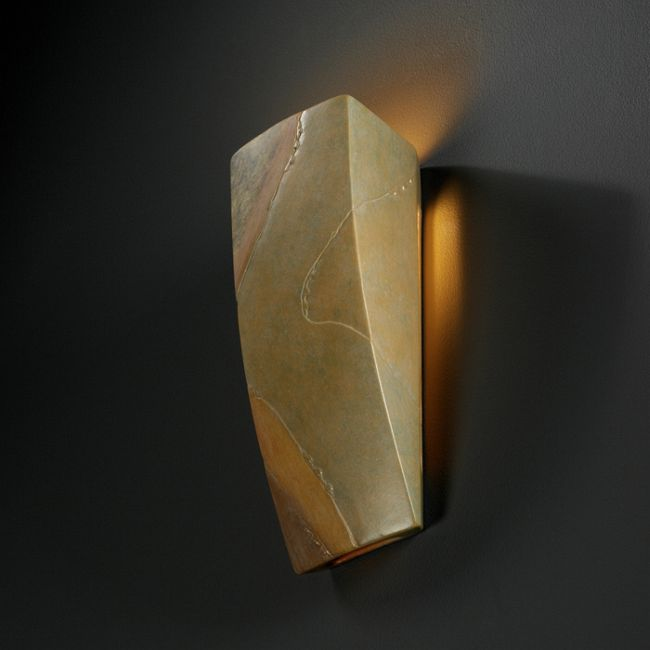 Harvest Yellow Slate Ceramic Wall Sconce  by Justice Design
