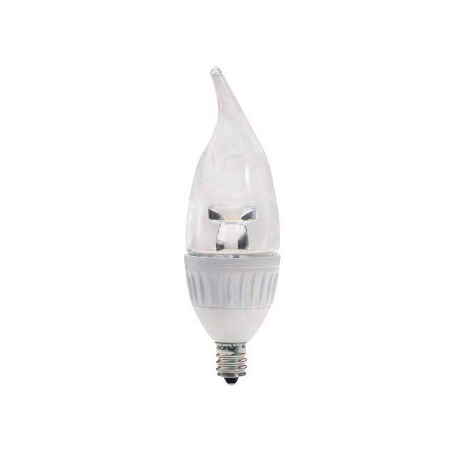 C11 Flame Tip Candelabra 4.9W 120V 3000K 80CRI  by Raise Lighting