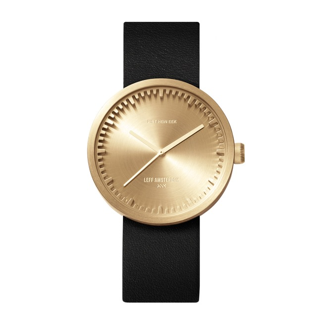 D42 Leather Strap Tube Watch  by LEFF Amsterdam