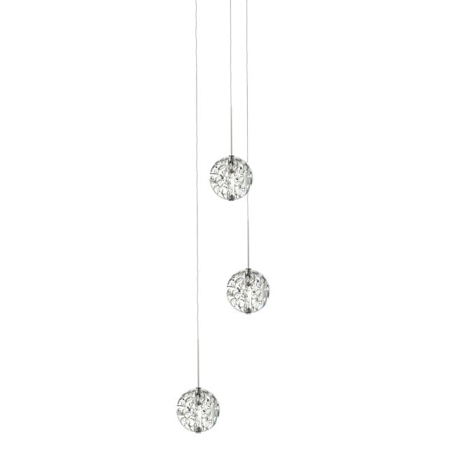 Bubble Ball 3 Light Round LED Pendant  by PureEdge Lighting