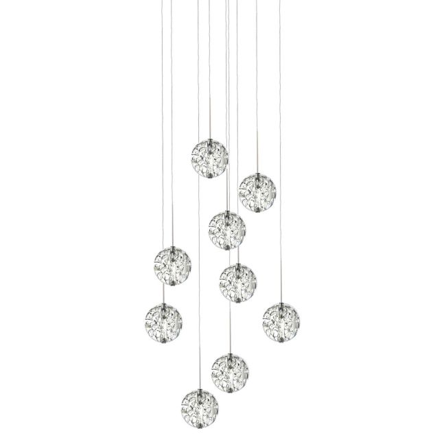 Bubble Ball 9 Light Round LED Pendant  by PureEdge Lighting