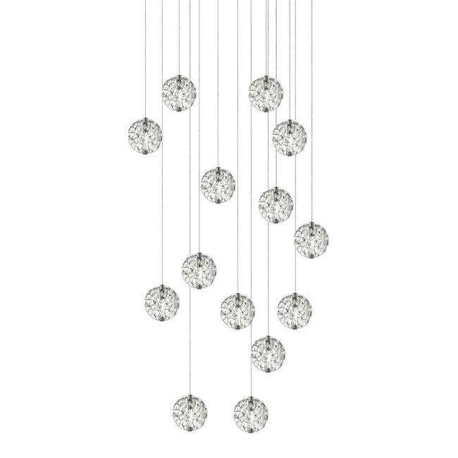 Bubble Ball 14 Light LED Linear Pendant  by PureEdge Lighting
