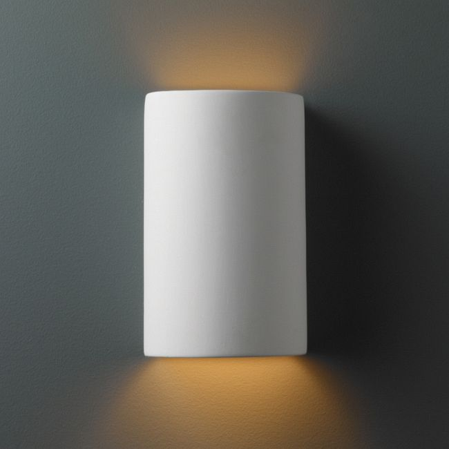 Outdoor Cylinder Wall Sconce  by Justice Design