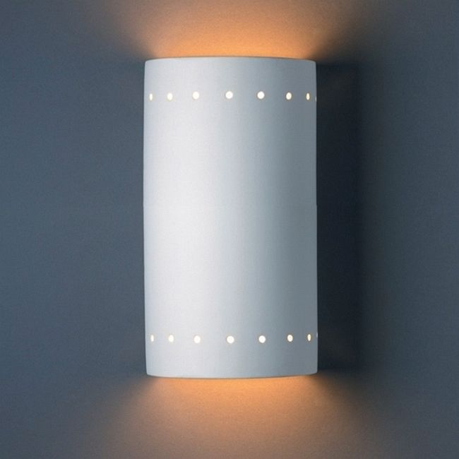 Perforated Cylinder Wall Sconce  by Justice Design