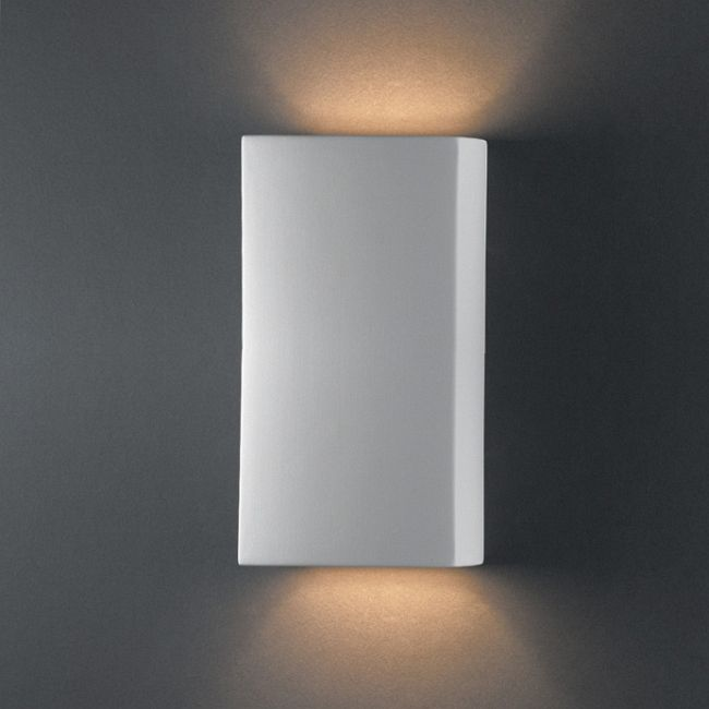Rectangle Wall Sconce  by Justice Design