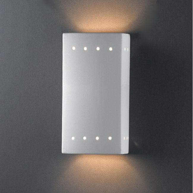 Perforated Rectangle Wall Sconce  by Justice Design