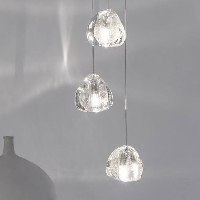 Mizu Round Multi Light Pendant  by Terzani USA