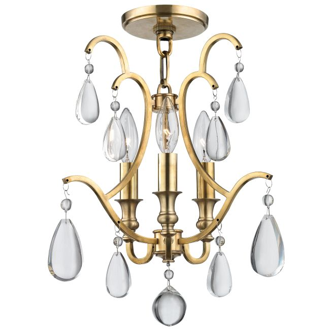Crawford Semi Flush Ceiling Light  by Hudson Valley Lighting