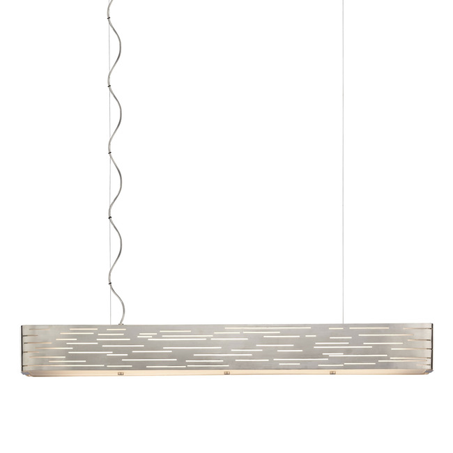 Revel Linear Suspension with Wood End Caps  by Tech Lighting
