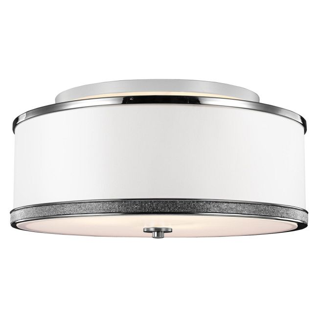 Pave Semi Flush Ceiling Light  by Feiss