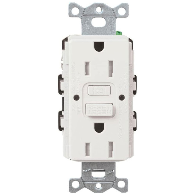 Claro 15A GFCI Tamper Resist Self Test Receptacle  by Lutron