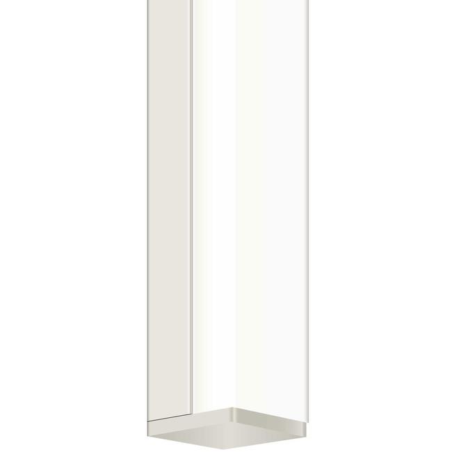 Twiggy S1 65 Inch Satin Nickel Bath Bar w/ Square Canopy  by PureEdge Lighting