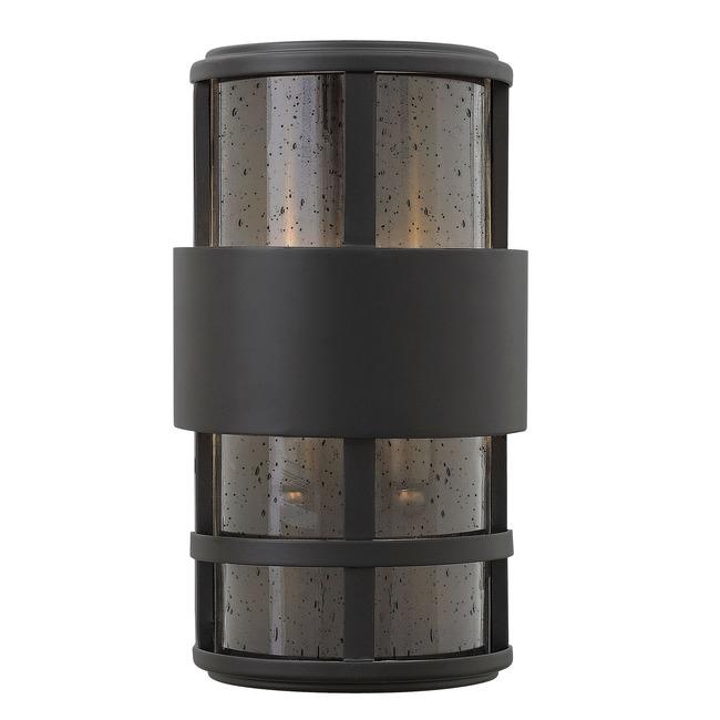 Saturn Outdoor Pocket Wall Light Satin Black  by Hinkley Lighting