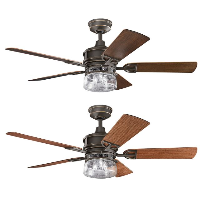 Lyndon Outdoor Ceiling Fan with Light  by Kichler