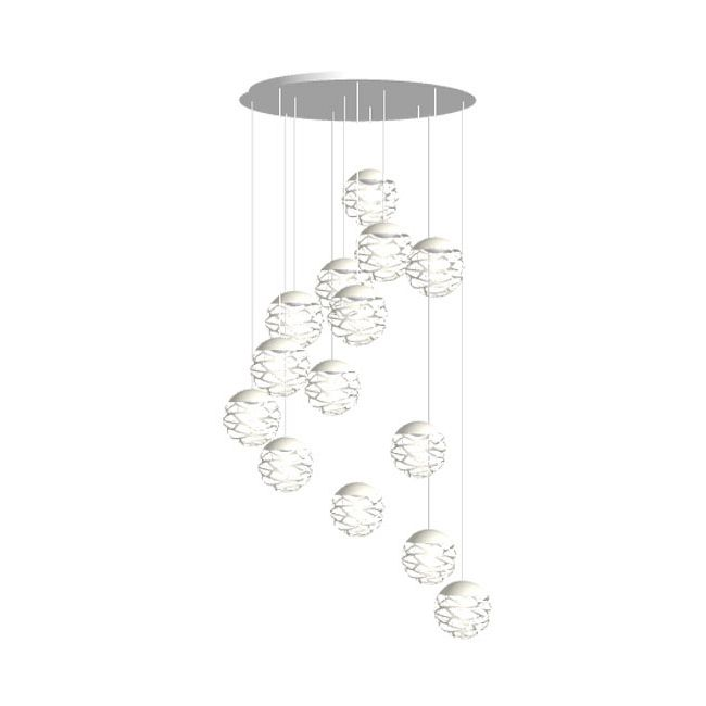 Kelly Cluster Round Multi Light Pendant  by LODES
