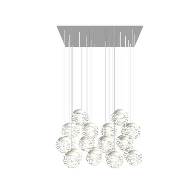 Kelly Cluster 28 Light Rectangular Multi Light Pendant  by Studio Italia Design