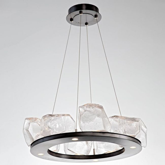 Gem Ring Single Tier Chandelier  by Hammerton Studio