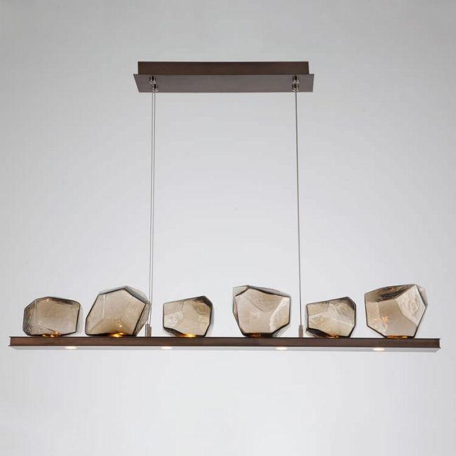 Gem Bezel Linear Suspension  by Hammerton Studio