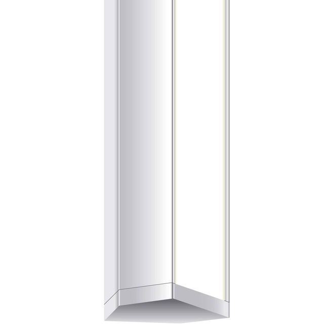 Audrey 82IN Satin Aluminum Bath Bar w/ Square Canopy  by PureEdge Lighting