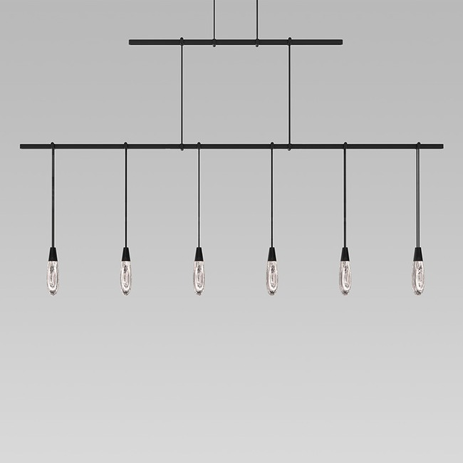 Suspenders Linear Two Tier Pendant with Teardrops  by SONNEMAN - A Way of Light