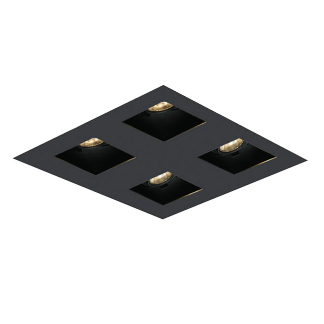 2X2 Square on Square Flangeless Trim  by Element by Tech Lighting | EMT22SLF-B