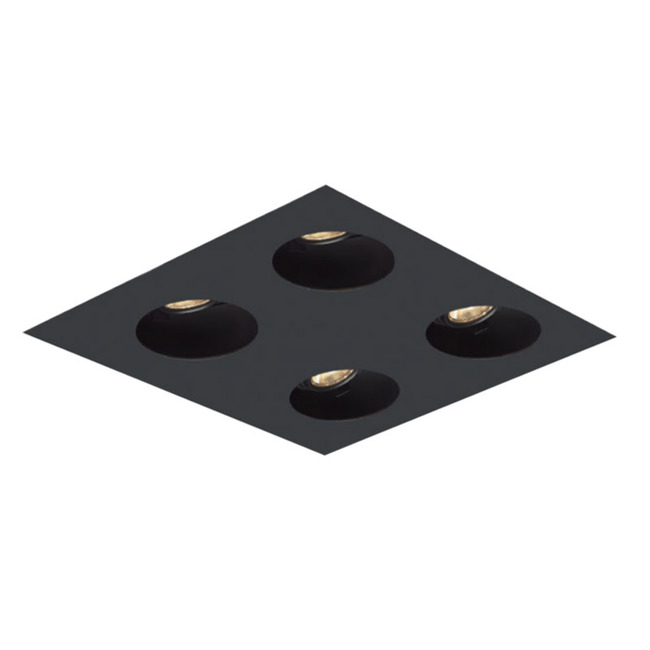 2X2 Round on Square Flangeless Trim  by Element by Tech Lighting | EMT22RLF-B