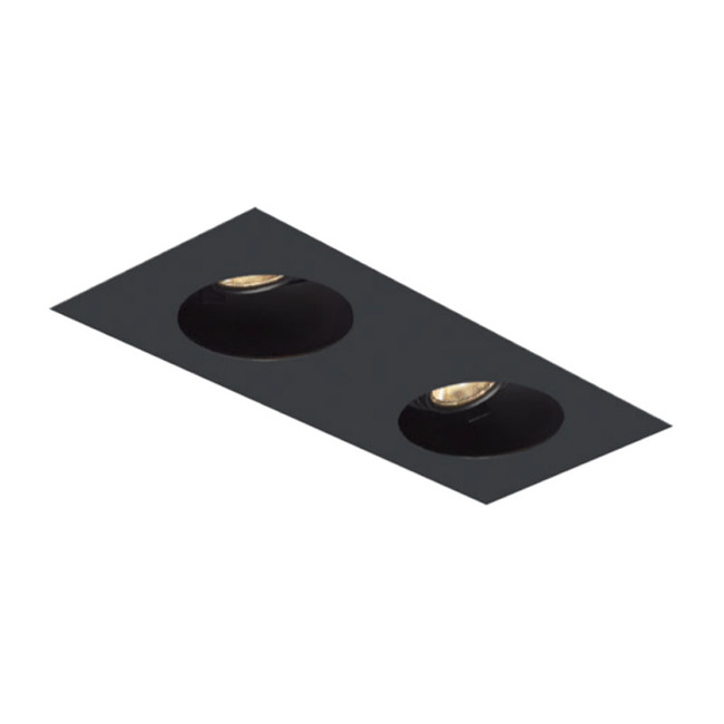 1X2 Round on Square Flangeless Trim  by Element by Tech Lighting | EMT12RLF-B