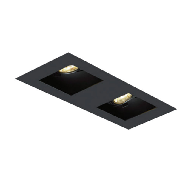 1X2 Square on Square Flangeless Trim  by Element by Tech Lighting | EMT12SLF-B
