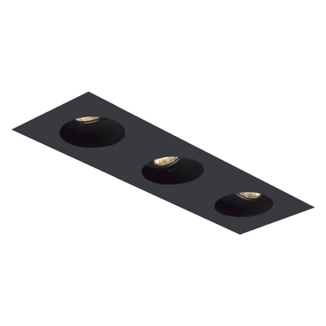 1X3 Round on Square Flangeless Trim  by Element by Tech Lighting | EMT13RLF-B