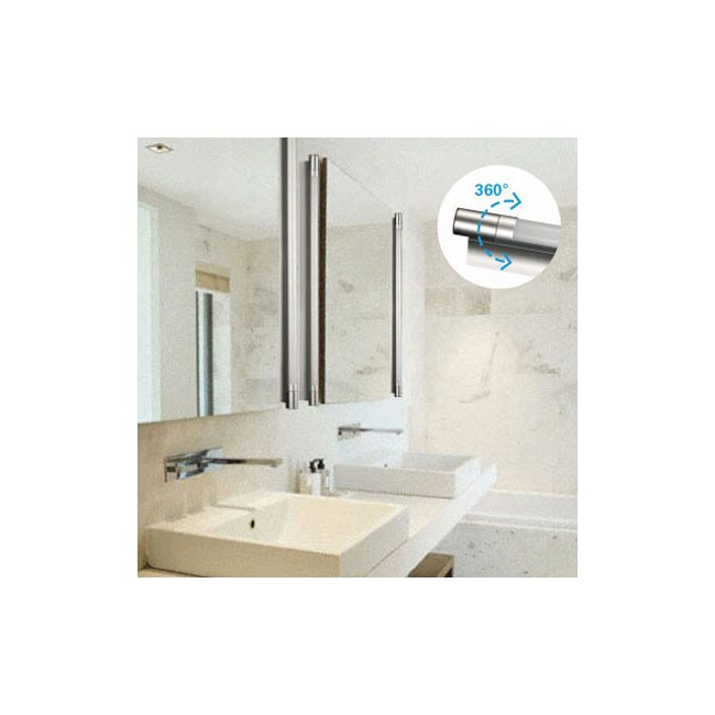 Alinea swivel bathroom vanity light by aamsco 360t514 sm