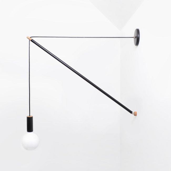 Pennant Wall Light by Andrew Neyer | PL-3-BLK