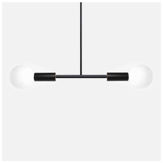 Dumbbell Linear Pendant by Andrew Neyer   DBL-BLK